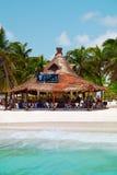 Toeristen op vakantie in Playa Paraiso Royalty-vrije Stock Foto's