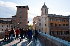 Toeristen in Rome, Italië Stock Fotografie