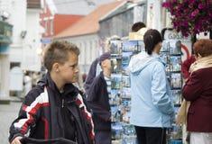 Toeristen in Stavanger royalty-vrije stock foto