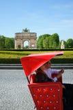 Toeristen Tuk Tuk Parijs Stock Foto