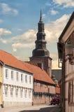 Toeristen in Ystad Stock Foto's