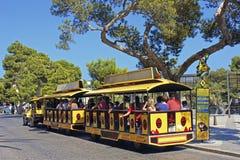 Toeristenbus in Mallorca, Spanje Stock Foto's