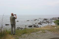 Toeristenfilms bij de Oostzee denemarken Royalty-vrije Stock Fotografie
