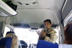 Toeristengids in het land van Marokko royalty-vrije stock afbeeldingen