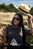 Toeristengids - Wetherill Mesa Stock Foto