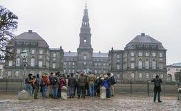 Toeristengroep in CPH Royalty-vrije Stock Foto's