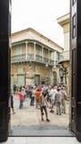 Toeristengroep Havana Royalty-vrije Stock Afbeelding