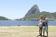 Toeristenpaar in Rio de Janeiro Royalty-vrije Stock Fotografie