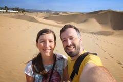Toeristenpaar selfie royalty-vrije stock foto