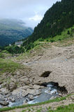 Toeristenroute in de zomer de Pyreneeën Royalty-vrije Stock Fotografie