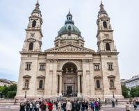 Toeristenvoorzijde van St. Stephen Basiliek royalty-vrije stock afbeelding