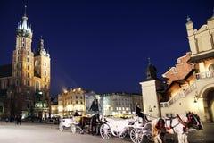 Toeristisch Krakau Royalty-vrije Stock Fotografie