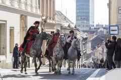 Toeristische attractie in Zagreb, Kroatië Royalty-vrije Stock Foto