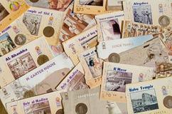 Toeristische attractiekaartjes, Egypte Stock Afbeelding