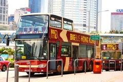 Toeristische Bushalte in Hong Kong Royalty-vrije Stock Fotografie