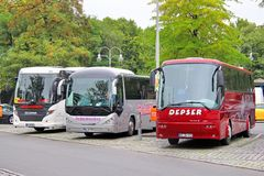 Toeristische bussen royalty-vrije stock foto