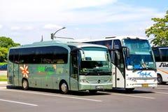 Toeristische bussen Royalty-vrije Stock Afbeelding