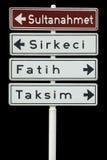 Toeristische districten van Istanboel, Turkije Royalty-vrije Stock Afbeelding