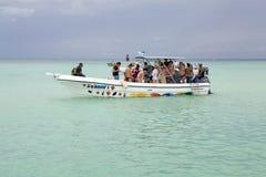 Toeristische snelheidsboot royalty-vrije stock foto