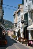Straat in Tossa de Mar, Catalonië, Spanje Stock Fotografie