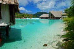 Toeristische Toevlucht Bora Bora, Franse Polynesia royalty-vrije stock foto