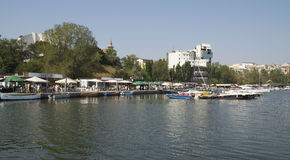 Toeristische Tomis-Haven in Constanta, Roemenië Royalty-vrije Stock Fotografie
