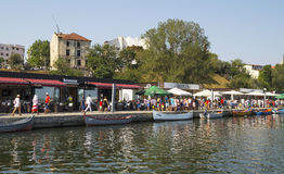 Toeristische Tomis-Haven in Constanta, Roemenië Royalty-vrije Stock Foto