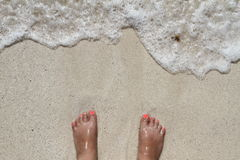 Toes at the beach Royalty Free Stock Image