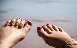 Toes and Ocean Royalty Free Stock Photo