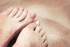 Toes in the Sand Stock Photo