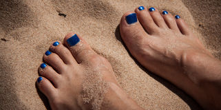 Toes in the sand Royalty Free Stock Photography