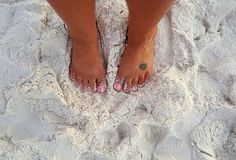 Toes in the sand Stock Image
