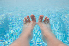 Toes on vacation. Stock Images