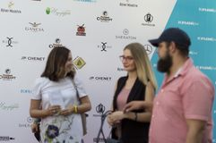 Spectators and guests of the film festival. Closing ceremony of the film festival Gorky Fest, red carpet.