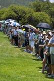 Toeschouwers op 1st fairway - NGC2010 Royalty-vrije Stock Foto