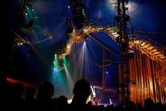 Toeschouwers op vertegenwoordiging van Cirque du Soleil Royalty-vrije Stock Fotografie