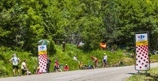 Toeschouwers van Le-Ronde van Frankrijk Royalty-vrije Stock Foto