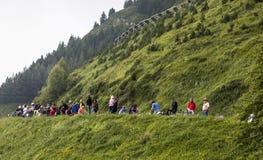 Toeschouwers van Le Tour DE Frankrijk Royalty-vrije Stock Afbeeldingen