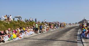 Toeschouwers van Le Tour DE Frankrijk Royalty-vrije Stock Fotografie