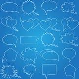 Toespraak, gespreksblauwdruk Stock Fotografie
