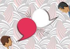 Toespraakbellen met twee gezichten vector illustratie
