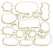 Toespraakbellen, Vectorillustratie Stock Afbeelding