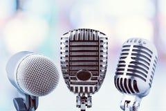Toespraakmicrofoons Royalty-vrije Stock Foto