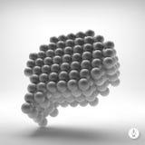 Toespraakpictogram Het element van het ontwerp 3D Illustratie Stock Fotografie