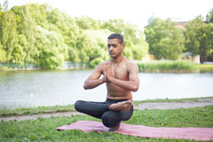 Toestand yoga pose Royalty Free Stock Image