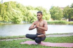 Toestand yoga poserar Royaltyfri Bild