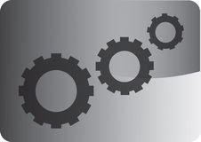 Toestel en tandrad vector illustratie