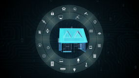 Toestel van het IoT het slimme huis, Internet van Dingen, kunstmatige intelligentie stock illustratie
