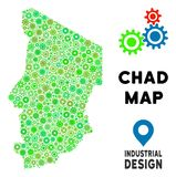 Toestellen Chad Map Composition royalty-vrije illustratie