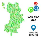 Toestellen Koh Tao Thai Island Map Mosaic Vector Illustratie